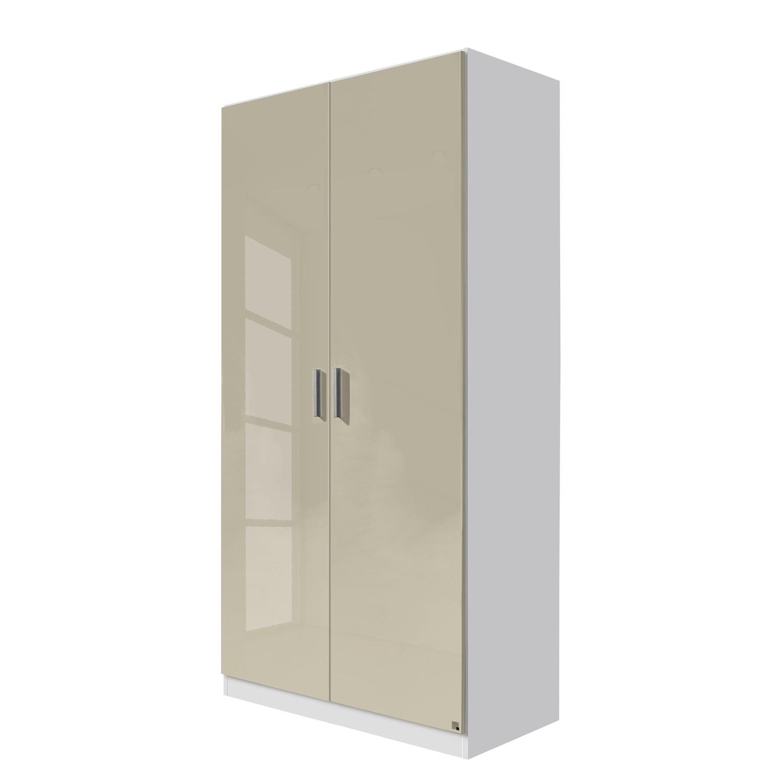 goedkoop Draaideurkast Celle Alpinewit hoogglans zandgrijs 91cm 2 deurs Rauch Packs