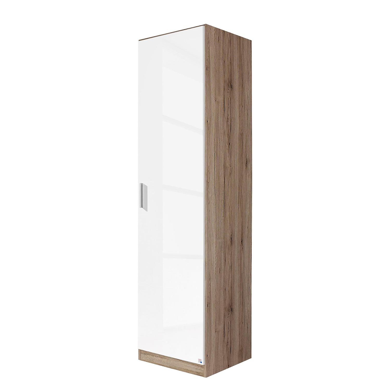 goedkoop Draaideurkast Celle Hoogglans wit Lichte San Remo eikenhouten look 47cm 1 deurs Rauch Packs