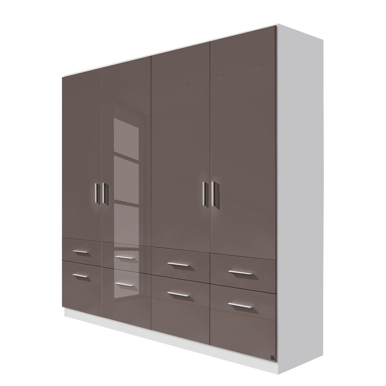 goedkoop Draaideurkast Celle I Alpinewit hoogglans lavagrijs 181cm 4 deurs Rauch Packs