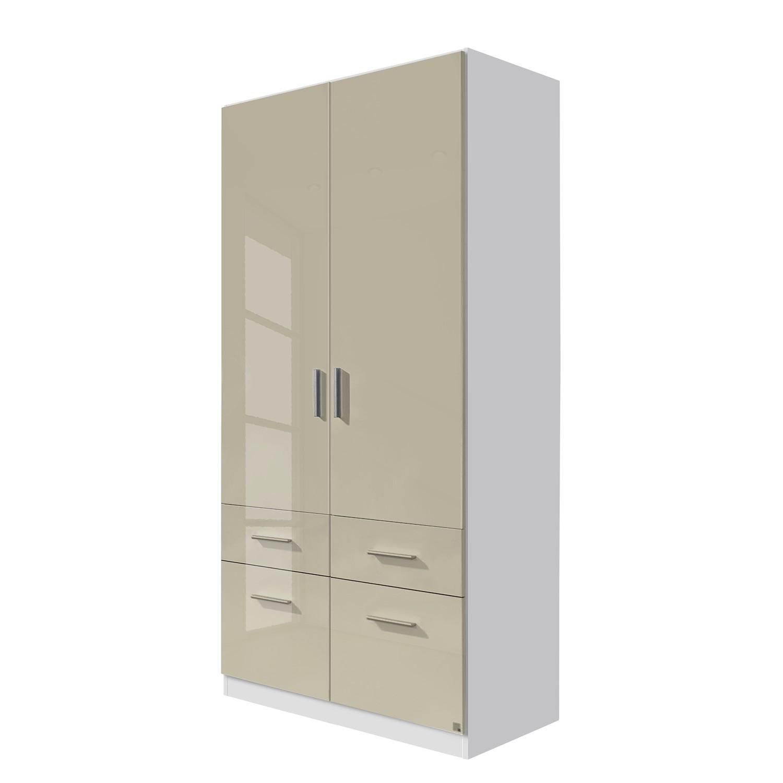 goedkoop Draaideurkast Celle I Alpinewit hoogglans zandgrijs 91cm 2 deurs Rauch Packs