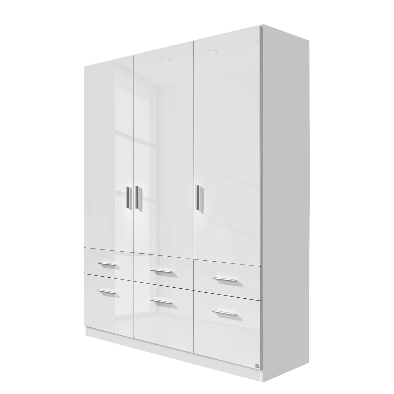 goedkoop Draaideurkast Celle I Alpinewit hoogglans wit 136cm 3 deurs Rauch Packs
