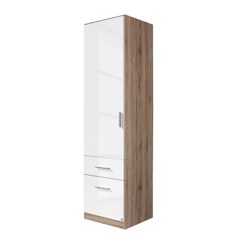 goedkoop Draaideurkast Celle I Hoogglans wit Lichte San Remo eikenhouten look 47cm 1 deurs Rauch Packs