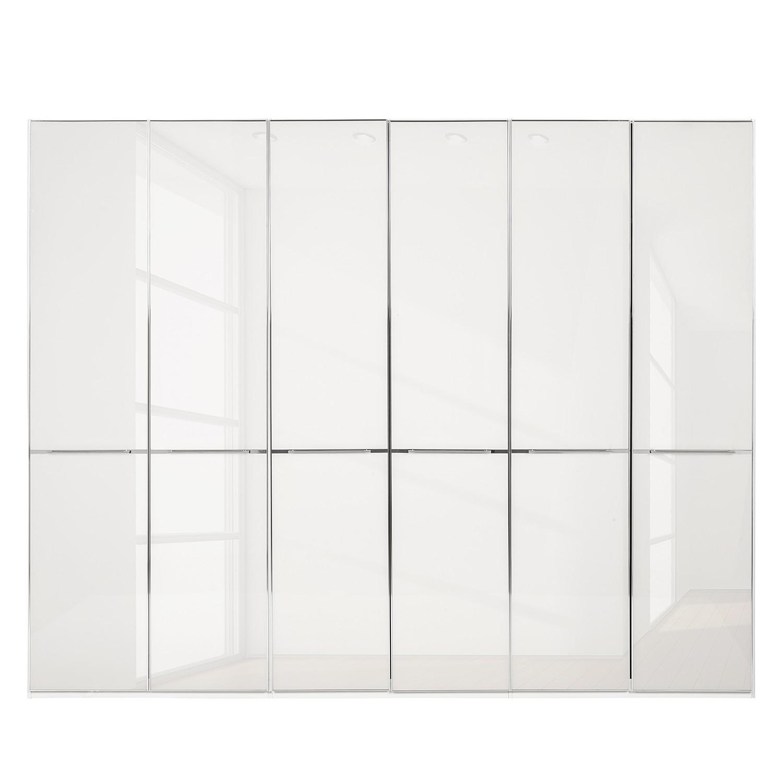 goedkoop Draaideurkast Chicago I Wit wit glas 300cm 6 deurs 216cm Wiemann