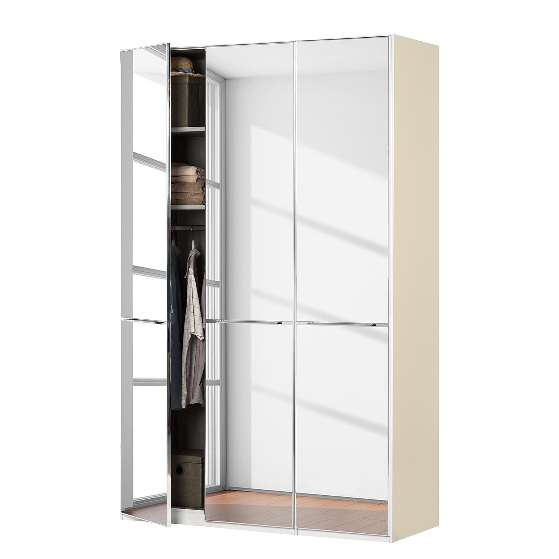 goedkoop Draaideurkast Chicago I Magnoliakleurig spiegelglas 150cm 3 deurs 216cm Wiemann