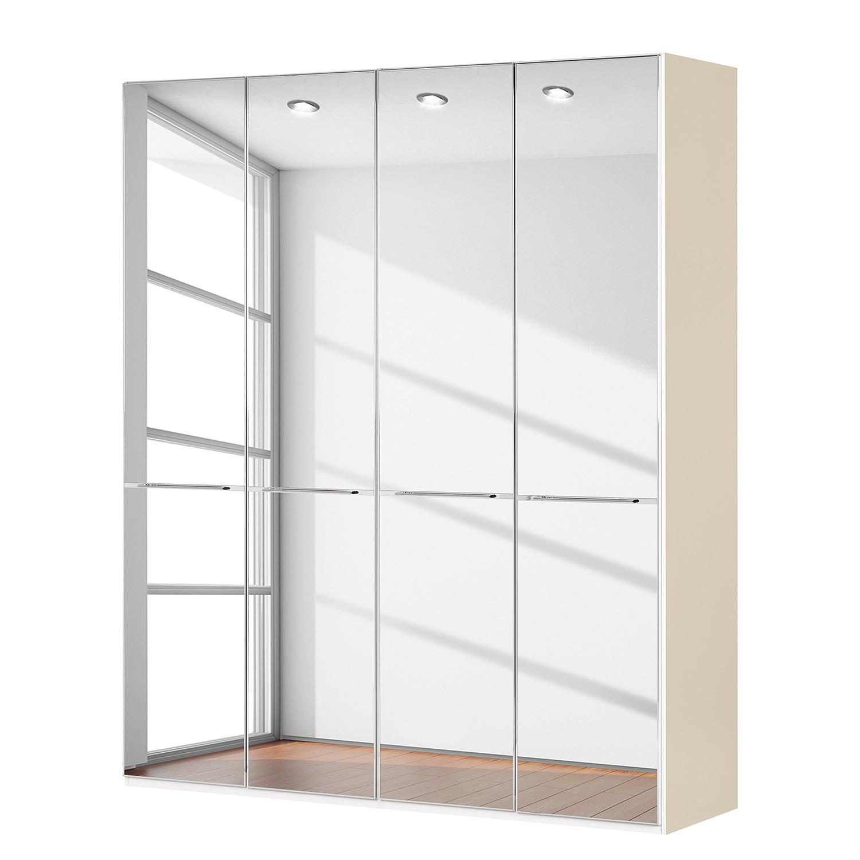 goedkoop Draaideurkast Chicago I Magnoliakleurig spiegelglas 200cm 4 deurs 216cm Wiemann
