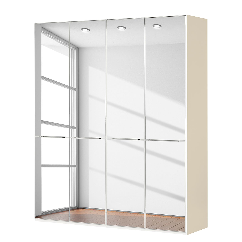 goedkoop Draaideurkast Chicago I Magnoliakleurig spiegelglas 200cm 4 deurs 236cm Wiemann
