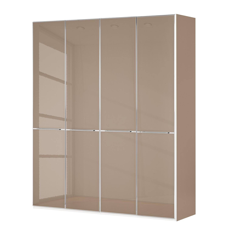 goedkoop Draaideurkast Chicago I Donker Sahara glas 200cm 4 deurs 216cm Wiemann