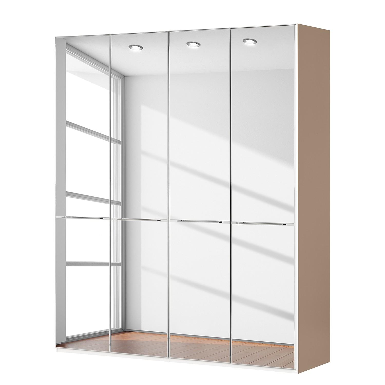 goedkoop Draaideurkast Chicago I Sahara spiegelglas 200cm 4 deurs 236cm Wiemann