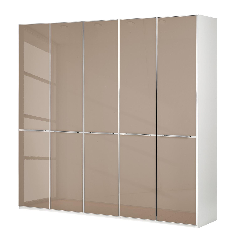 goedkoop Draaideurkast Chicago I Alpinewit saharakleurig glas 250cm 5 deurs 216cm Wiemann