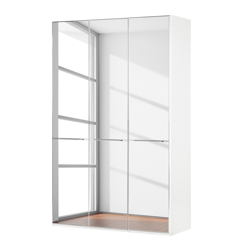 goedkoop Draaideurkast Chicago I Wit glas spiegelglas 150cm 3 deurs 216cm Wiemann