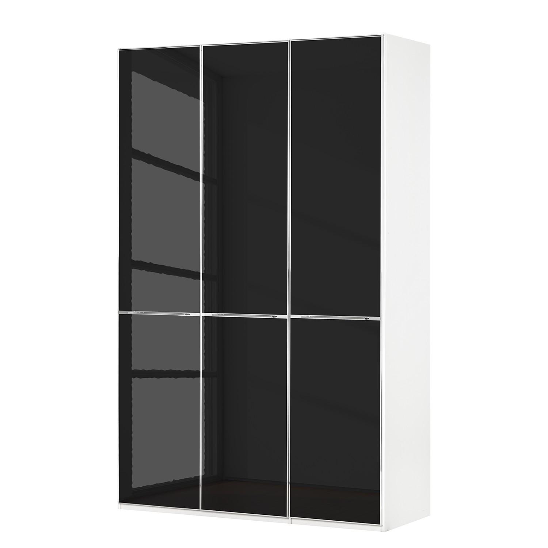 goedkoop Draaideurkast Chicago I Wit zwart glas 150cm 3 deurs 216cm Wiemann