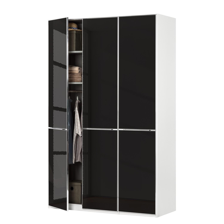 goedkoop Draaideurkast Chicago I Wit zwart glas 150cm 3 deurs 236cm Wiemann
