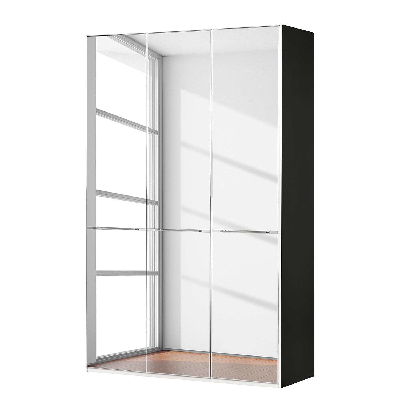 goedkoop Draaideurkast Chicago I Zwart spiegelglas 150cm 3 deurs 236cm Wiemann