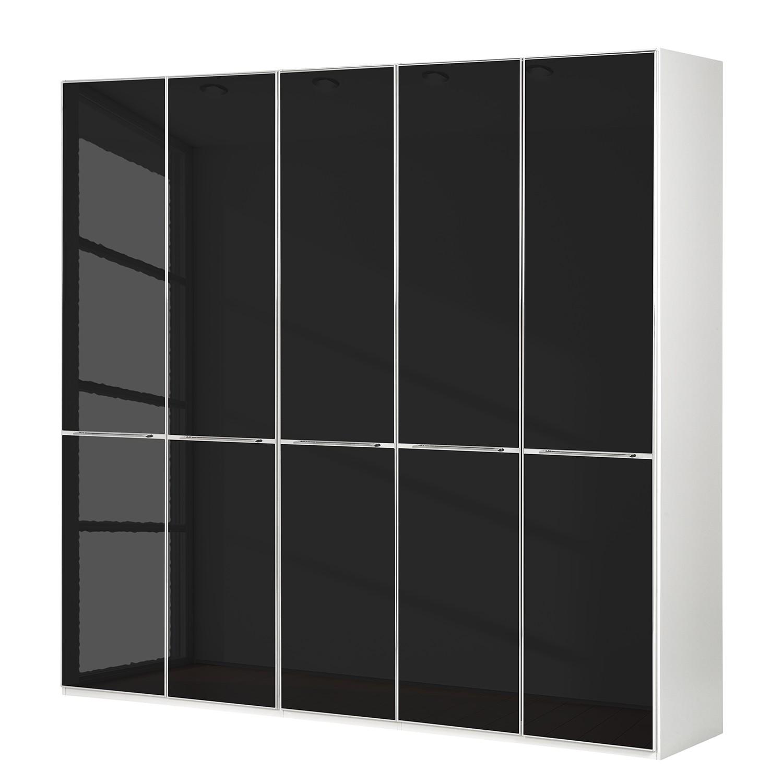 goedkoop Draaideurkast Chicago I Wit zwart glas 250cm 5 deurs 216cm Wiemann