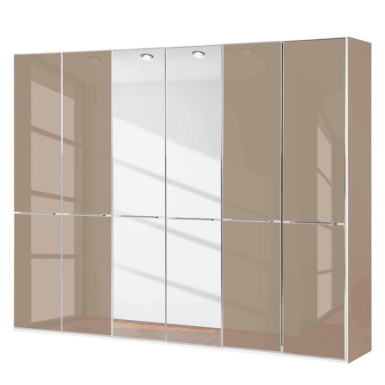 goedkoop Draaideurkast Chicago II Sahara spiegelglas 300cm 6 deurs 216cm Wiemann