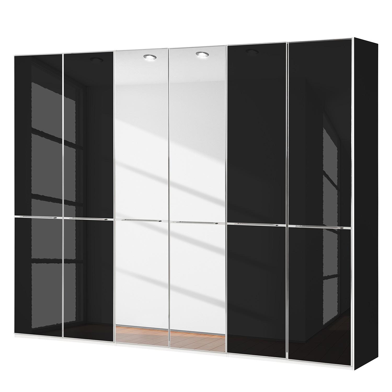 goedkoop Draaideurkast Chicago II Zwart glas 300cm 6 deurs 236cm Wiemann
