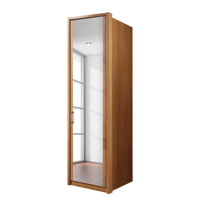 goedkoop Draaideurkast Florenz deels massief elzenhout 50cm 1 deurs scharnieren rechts 1 spiegeldeur scharnieren rechts Met Passe partout lijst Wiemann