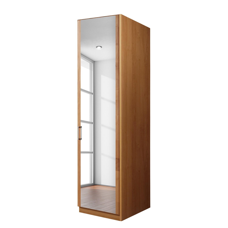 goedkoop Draaideurkast Florenz deels massief elzenhout 50cm 1 deurs scharnieren rechts 1 spiegeldeur scharnieren rechts Zonder Passe partout lijst Wiemann