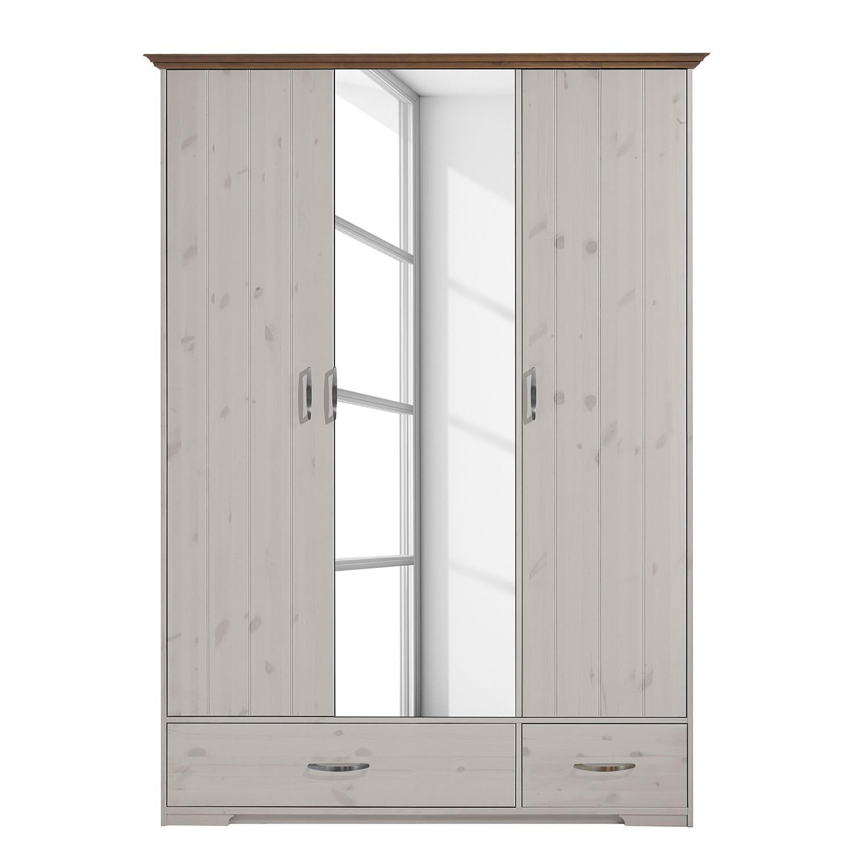 goedkoop Draaideurkast Hanstholm wit grenenhout 208cm Steens