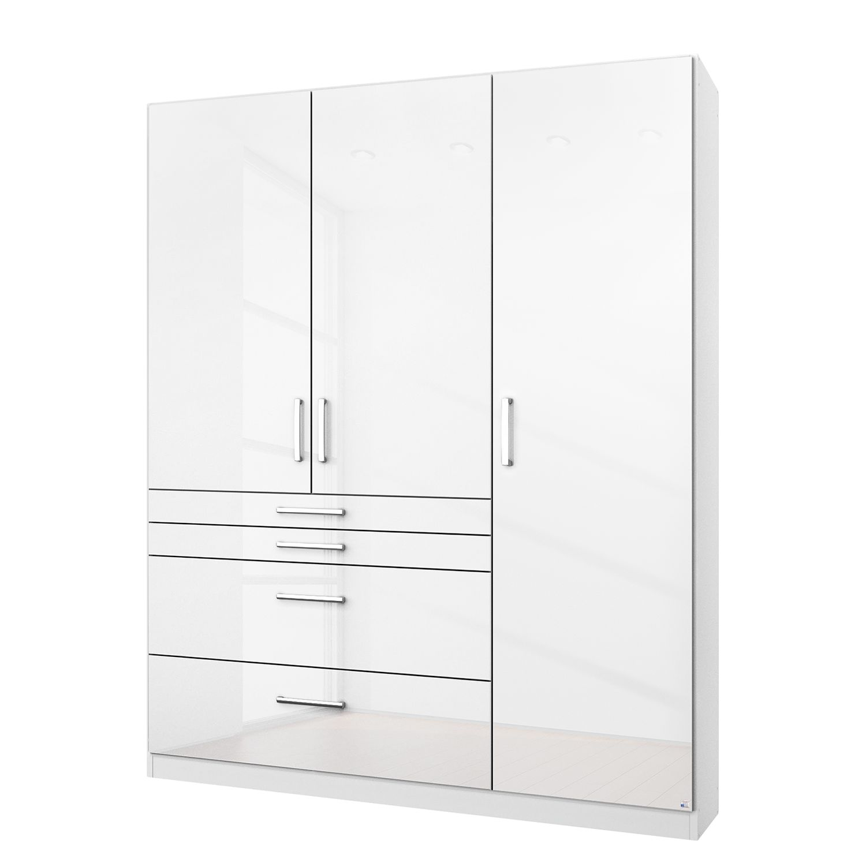 goedkoop Draaideurkast Homburg I Hoogglans alpinewit 136cm 3 deurs Zonder spiegeldeuren Rauch Packs