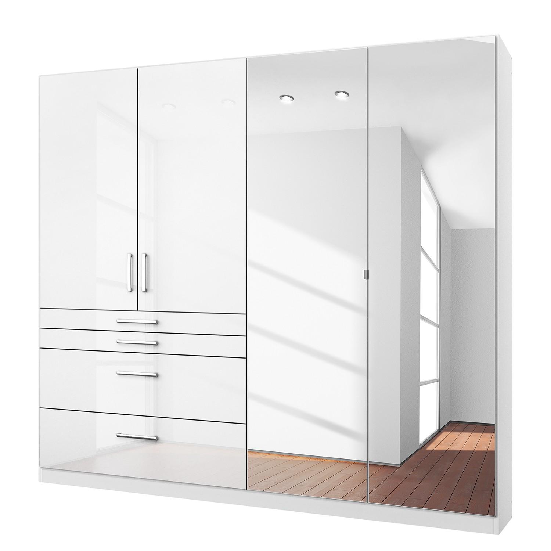 goedkoop Draaideurkast Homburg I Hoogglans alpinewit 181cm 4 deurs Met spiegeldeuren Rauch Packs