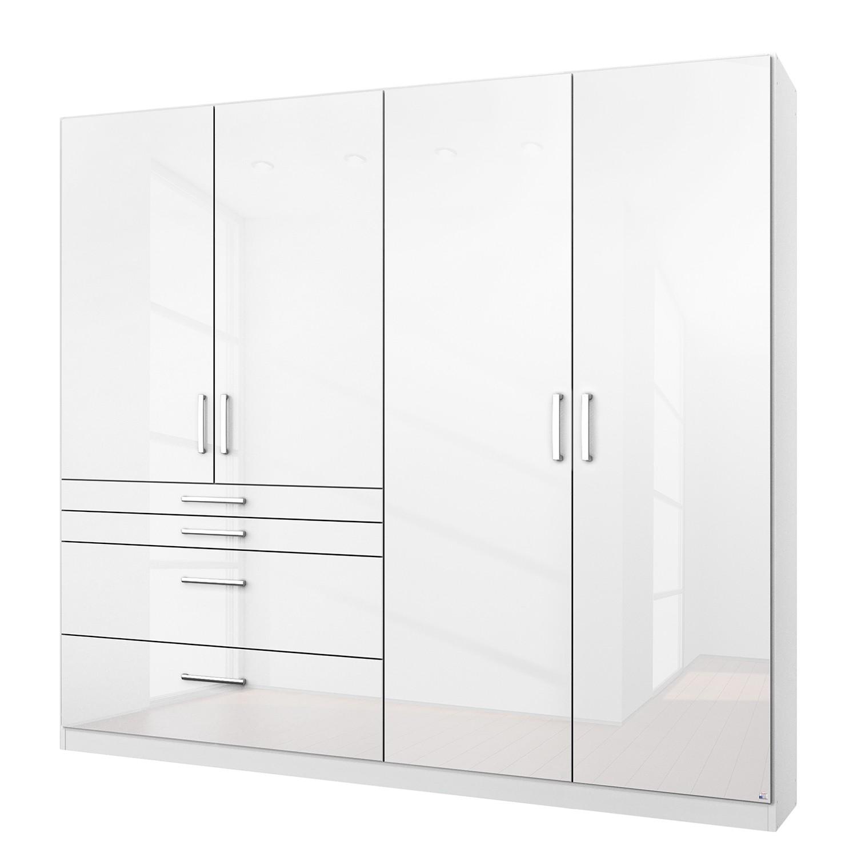 goedkoop Draaideurkast Homburg I Hoogglans alpinewit 181cm 4 deurs Zonder spiegeldeuren Rauch Packs