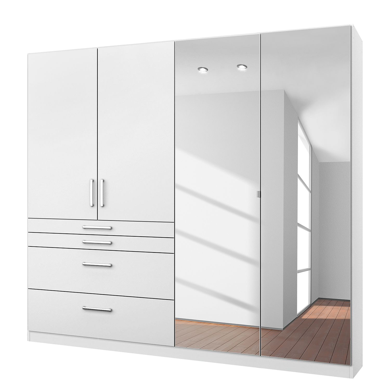 goedkoop Draaideurkast Homburg I Alpinewit 181cm 4 deurs Met spiegeldeuren Rauch Packs