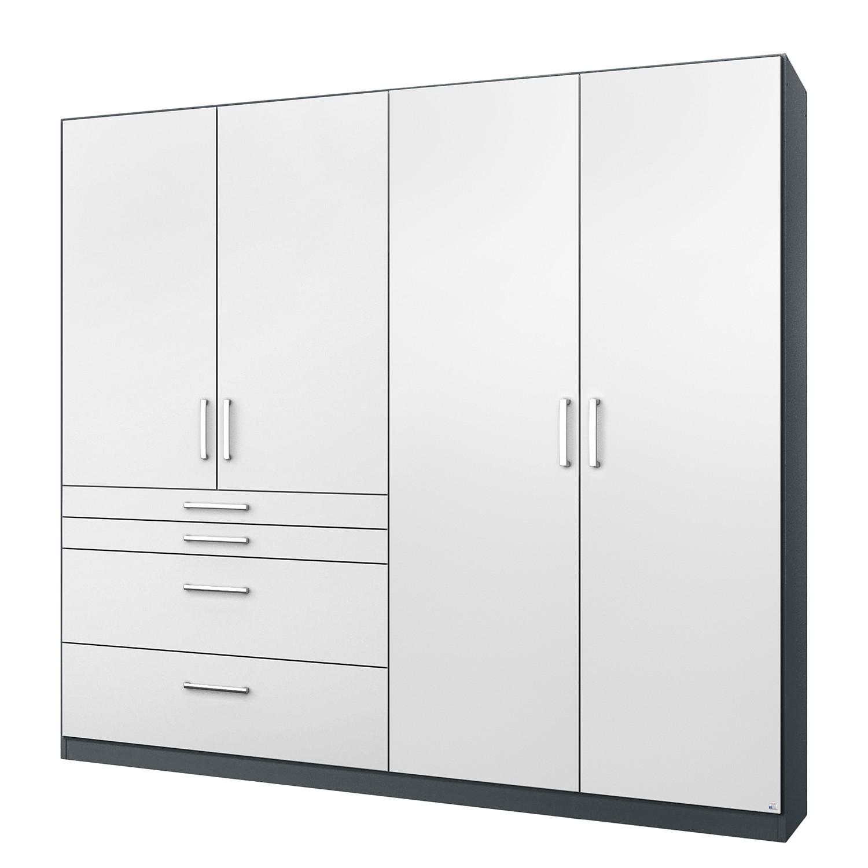 goedkoop Draaideurkast Homburg II Metallic grijs 181cm 4 deurs Zonder spiegeldeuren Rauch Packs