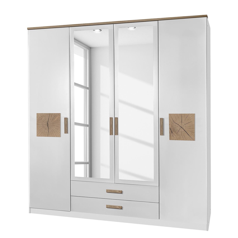 goedkoop Draaideurkast Kärnten Alpinewit 180cm 4 deurs 2 lades Wimex