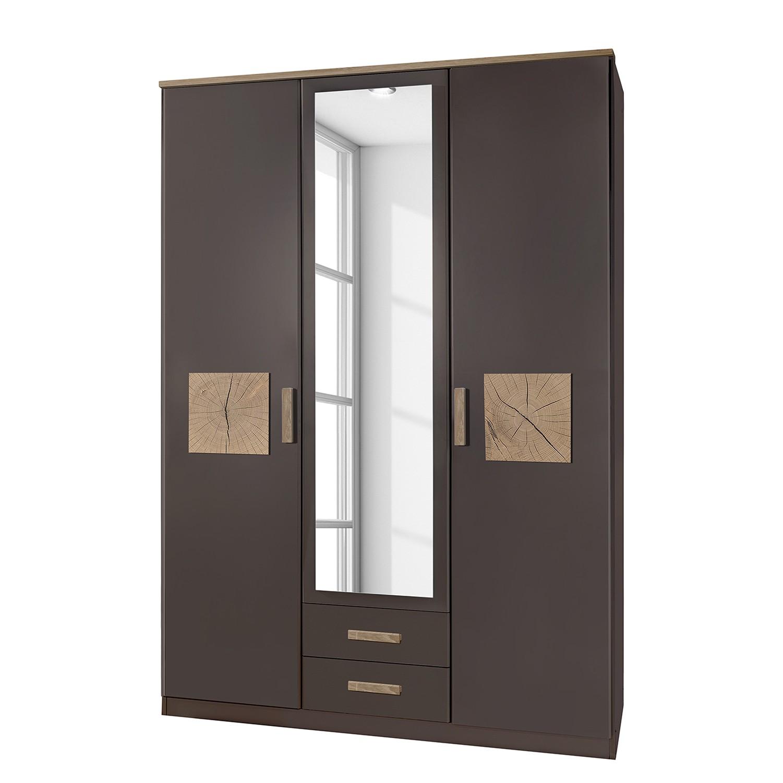 goedkoop Draaideurkast Kärnten Lavagrijs 135cm 3 deurs 2 lades Wimex
