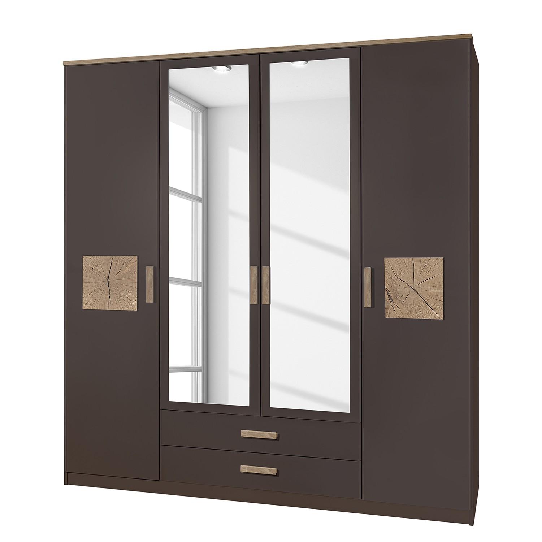 goedkoop Draaideurkast Kärnten Lavagrijs 180cm 4 deurs 2 lades Wimex