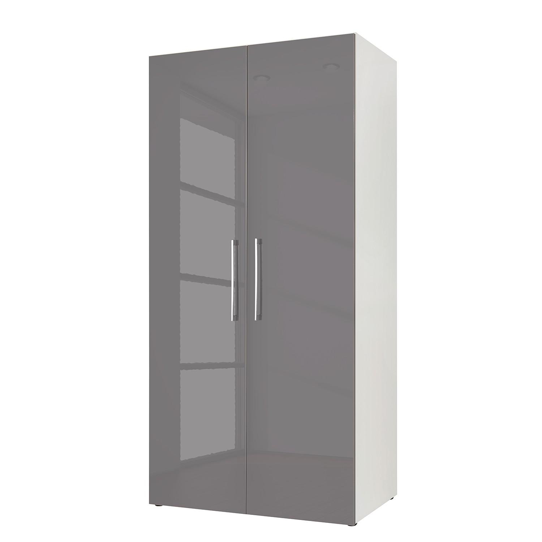 goedkoop Draaideurkast KSW I Hoogglans lavagrijs 100cm 2 deurs WelleMobel