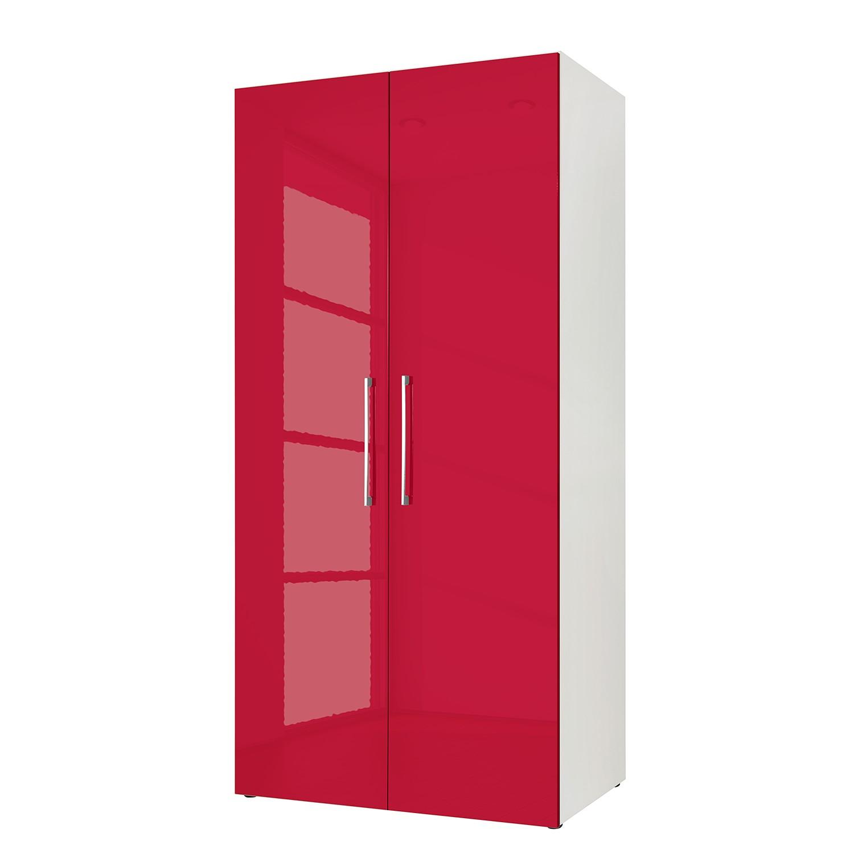 goedkoop Draaideurkast KSW I Hoogglans robijnrood 100cm 2 deurs WelleMobel