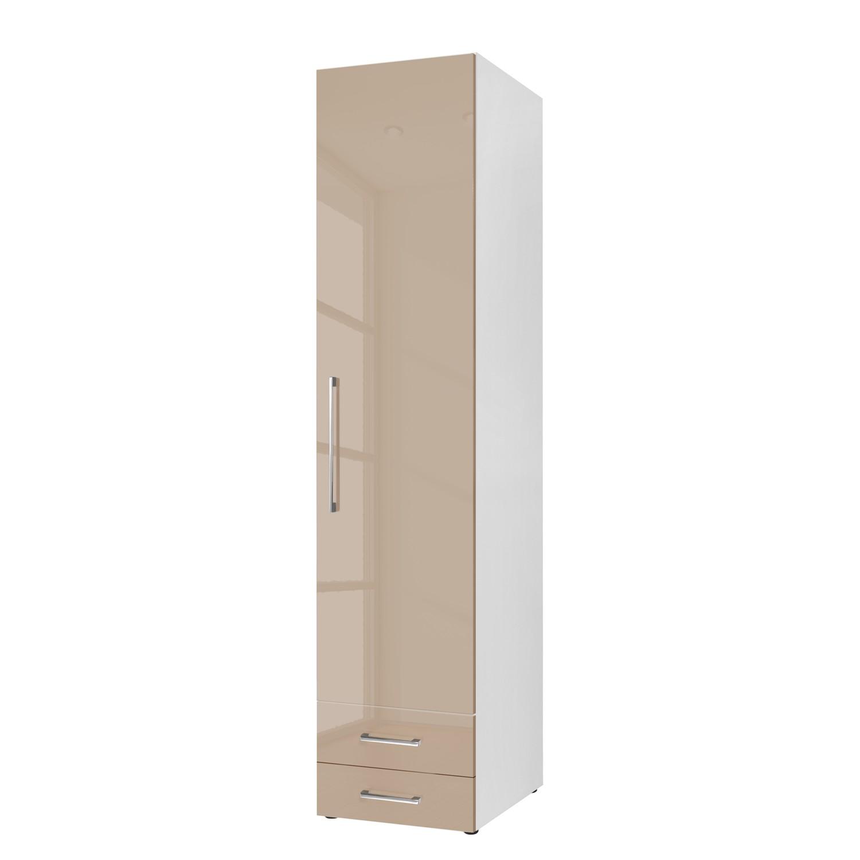 goedkoop Draaideurkast KSW Hoogglans zandgrijs 50 cm 1 deurs scharnieren rechts 2 lades WelleMobel
