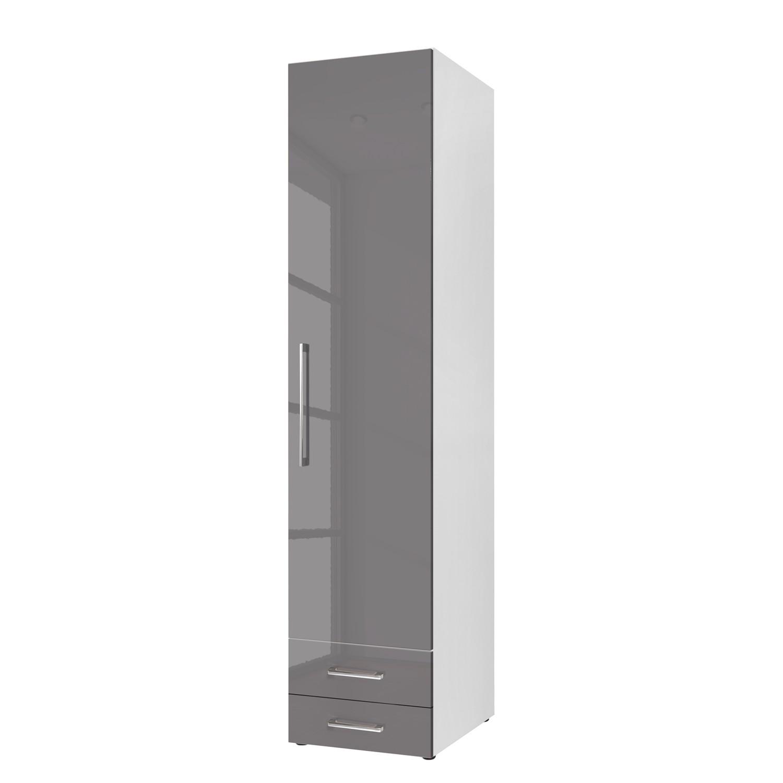 goedkoop Draaideurkast KSW Hoogglans lavagrijs 50 cm 1 deurs scharnieren rechts 2 lades WelleMobel
