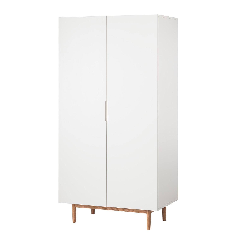 goedkoop Draaideurkast Lindholm mat wit 103cm 2 deurs Morteens