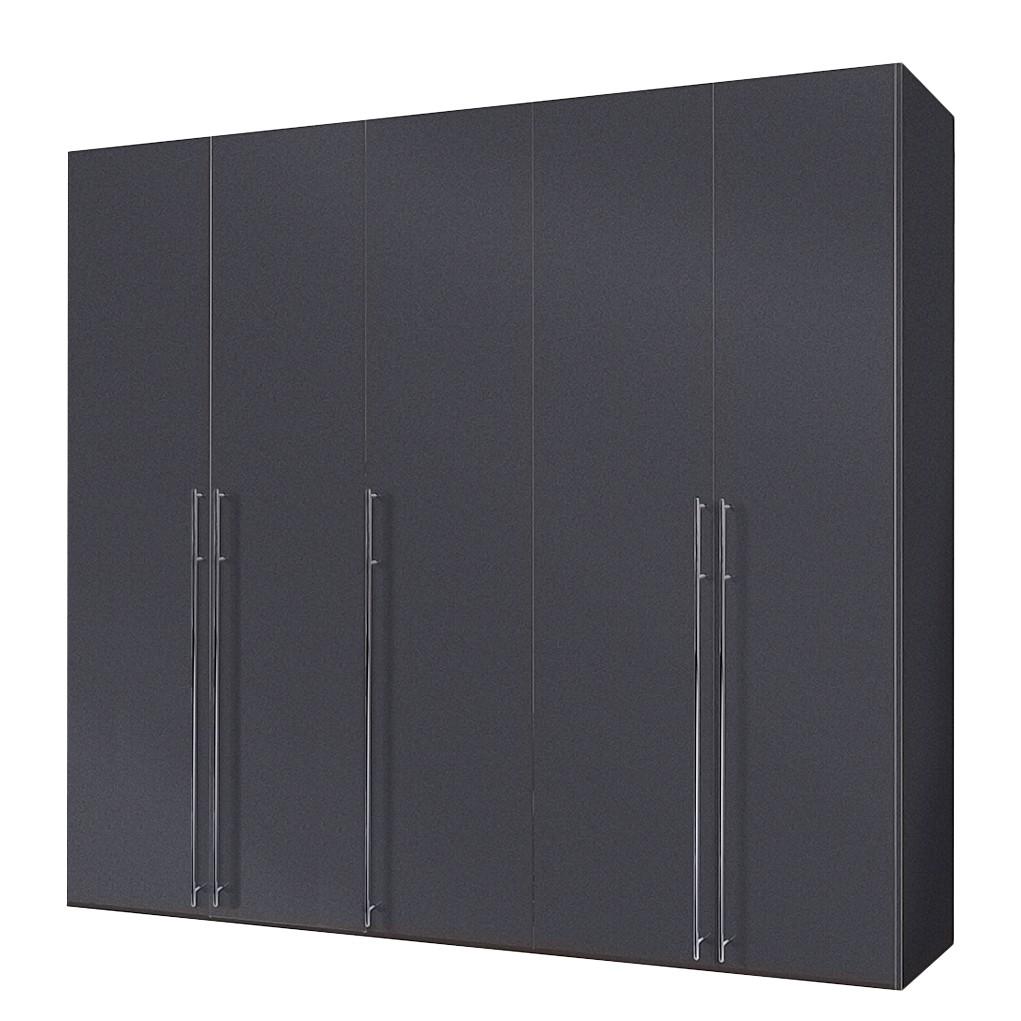 goedkoop Draaideurkast Brooklyn V grafiet 250cm 5 deurs 236cm Express Mobel