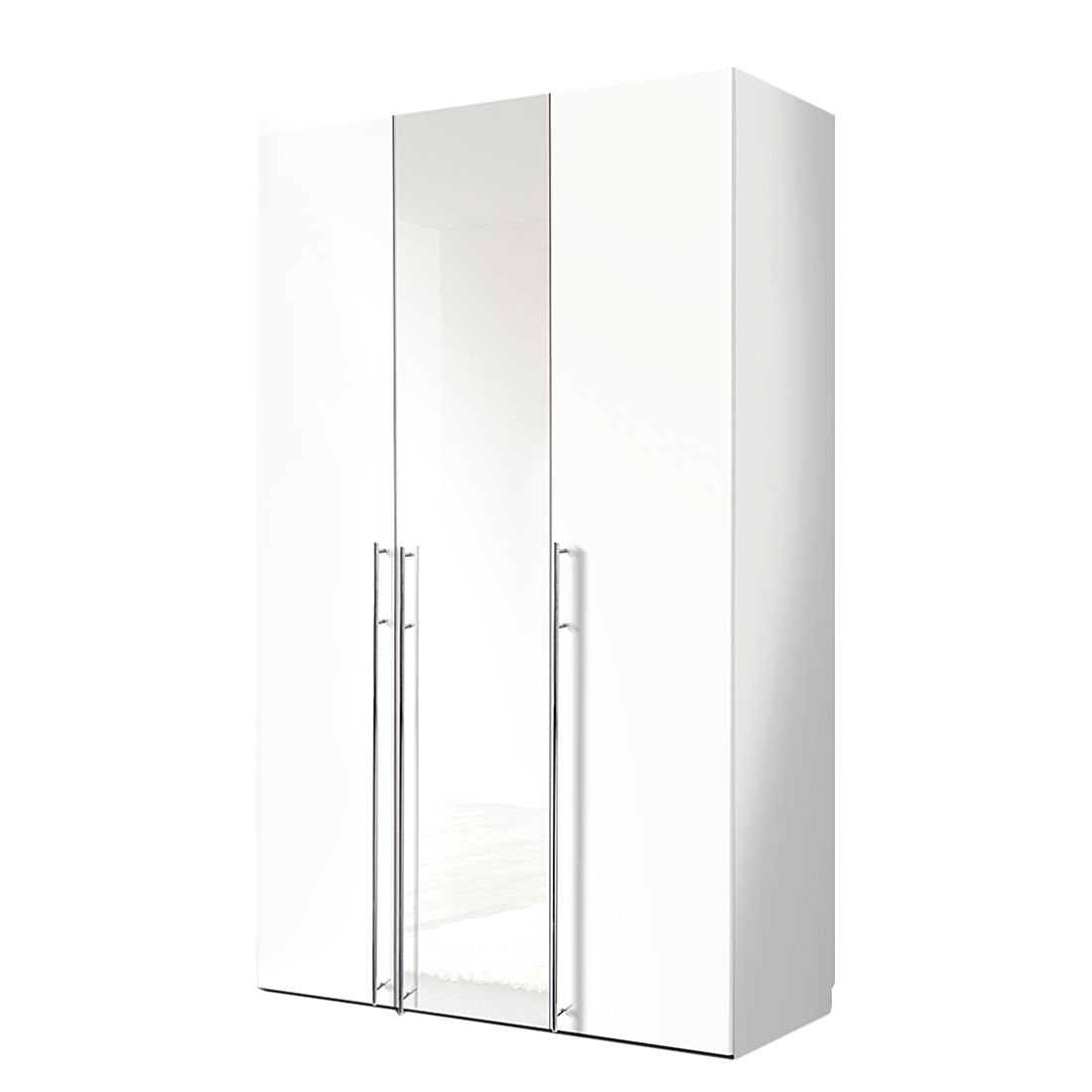 goedkoop Draaideurkast Brooklyn III wit wit gelakt 150cm 3 deurs 236cm Express Mobel