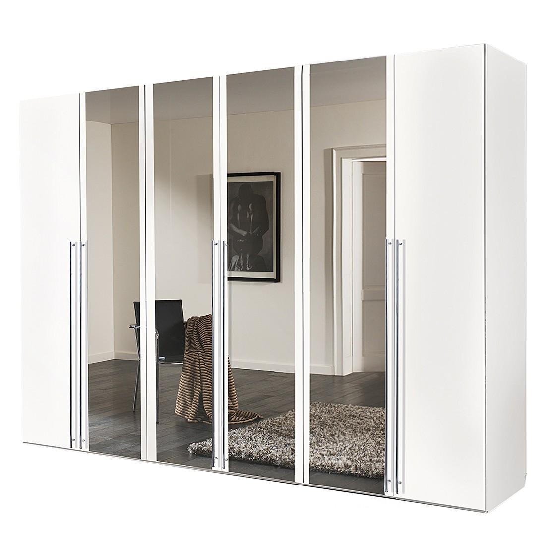goedkoop Draaideurkast Brooklyn II wit spiegel 300cm 6 deurs 216cm Express Mobel