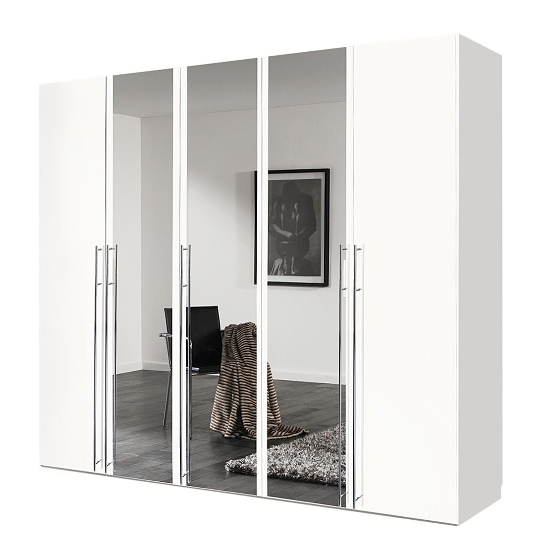 goedkoop Draaideurkast Brooklyn II wit spiegel 250cm 5 deurs 216cm Express Mobel
