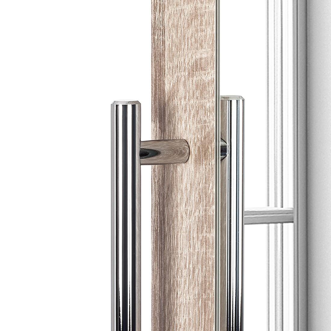 Armoire à portes battantes Brooklyn VI - Imitation chêne de Sonoma / Miroir - 100 cm (2 portes) - 216 cm, Express Möbel