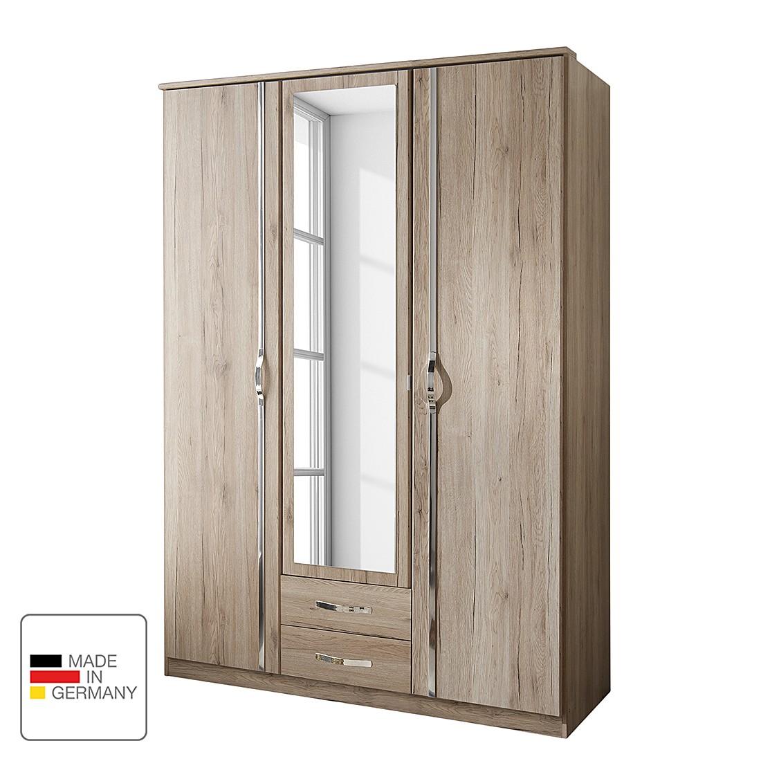 goedkoop Draaideurkast Nicu San Remo eikenhouten look Kastbreedte 135cm 3 deurs Wimex