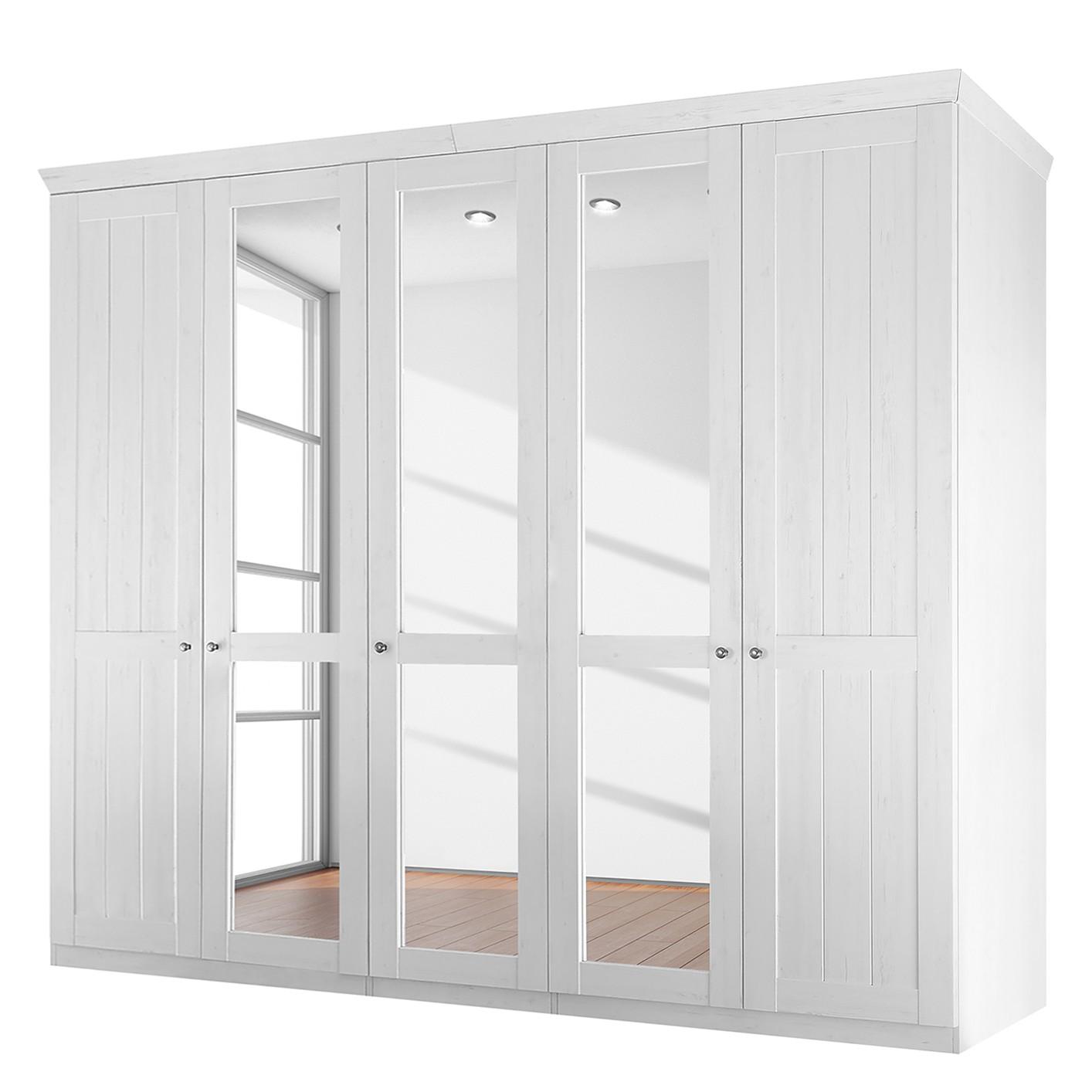 goedkoop Draaideurkast Paridas Anderson witte pijnboomhouten look Maison Belfort