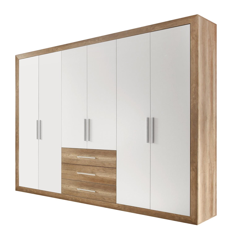 Drehtürenschrank Rachid - Canyon Oak Dekor / Weiß, loftscape bei Home24 - Möbel