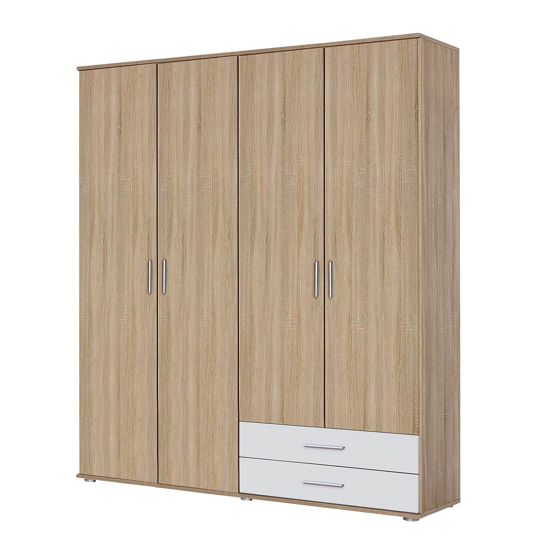 goedkoop Draaideurkast Rasant Extra Sonoma eikenhouten look alpinewit 168cm 4 deurs Zonder spiegeldeuren Rauch Packs