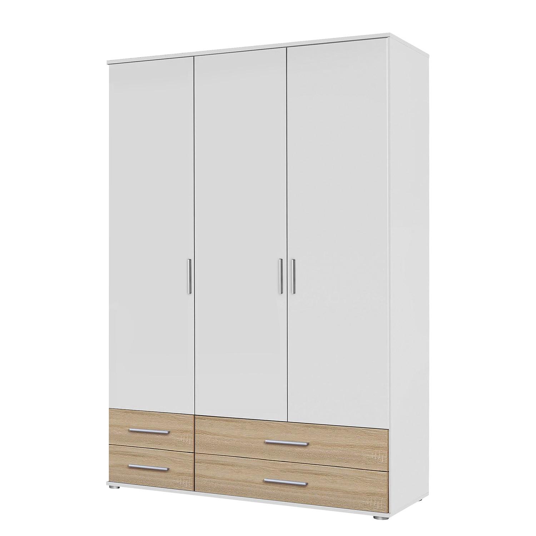 goedkoop Draaideurkast Rasant Extra I Alpinewit Sonoma eikenhoutkleurig 127cm 3 deurs Zonder spiegeldeuren Rauch Packs