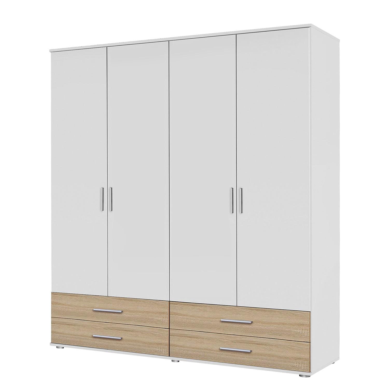 goedkoop Draaideurkast Rasant Extra I Alpinewit Sonoma eikenhoutkleurig 168cm 4 deurs Zonder spiegeldeuren Rauch Packs
