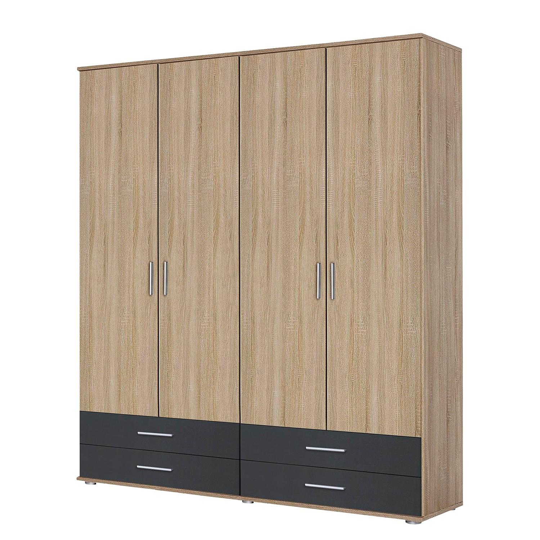 goedkoop Draaideurkast Rasant Extra I Antracietkleurig Sonoma eikenhouten look 168cm 4 deurs Zonder spiegeldeuren Rauch Packs