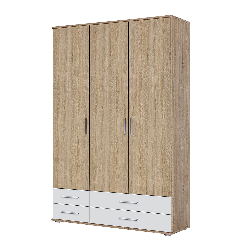 goedkoop Draaideurkast Rasant Extra I Sonoma eikenhouten look alpinewit 127cm 3 deurs Zonder spiegeldeuren Rauch Packs