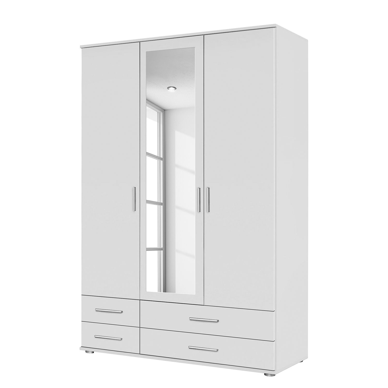 goedkoop Draaideurkast Rasant I Alpinewit 127cm 3 deurs 1 spiegeldeur Rauch Packs